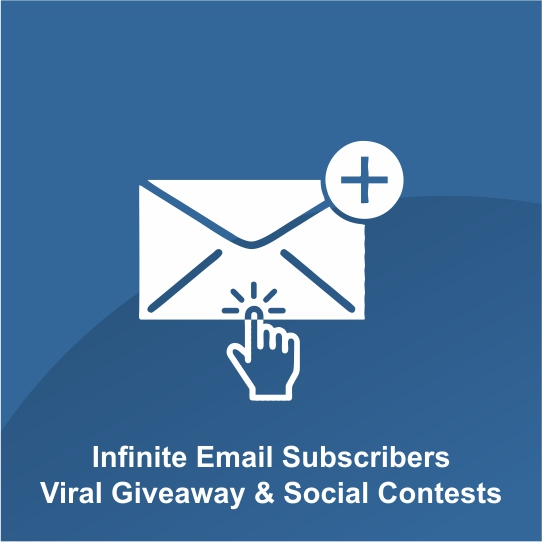 Infinite Email Subscribers Viral Giveaway & Social Contests